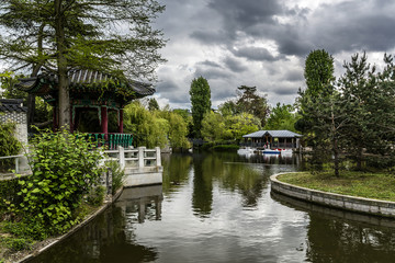 Jardin d'Acclimatation (1860) - park in Bois de Boulogne. Paris.