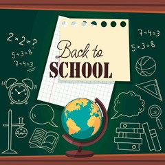 school board. back to school. Vector Illustration