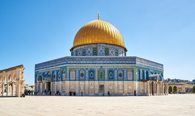 Dome of the Rock mosque in Jerusalem Wall mural