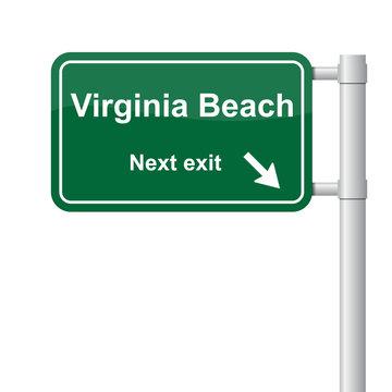 Virginia Beach next exit green signal vector