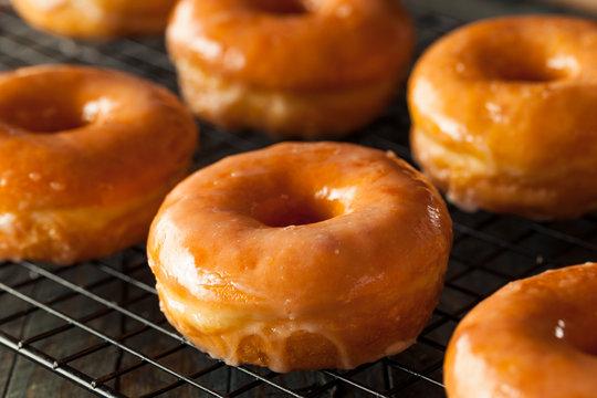 Homemade Round Glazed Donuts
