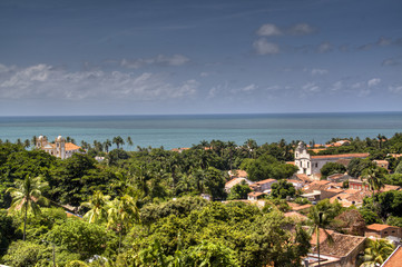 View over the town of Olinda, Brazil