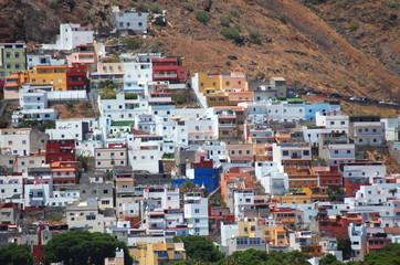 przepiękne miasto san andres na teneryfie, hiszpania