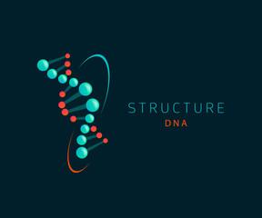 dna abstract icon, logo design template