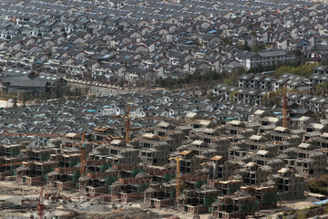 Aerial view of chinese residential area