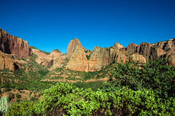 Zion National Park, wide view of Kolob Canyons section