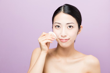 attarctive asian woman skincare image