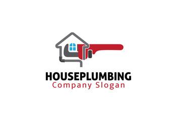 House Plumbing Logo template