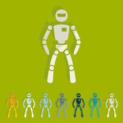 Flat design: robot
