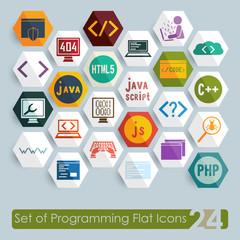 Set of programming icons