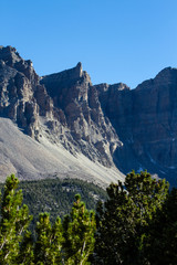 Sheer cliffs in Great Basin National Park in Nevada