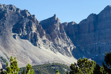 Sheer clliffs in Great Basin National Park in Nevada