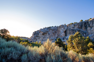 Great Basin National Park, dawn on the Gray Cliffs