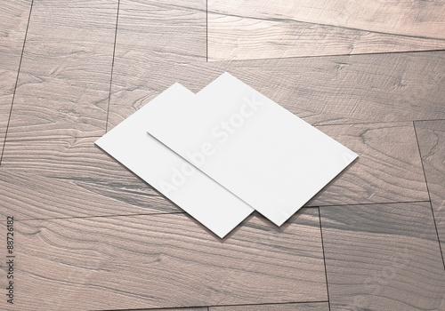 Visitenkarte Auf Holz Hintergrund Stock Photo And Royalty