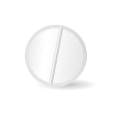 White tablet pill