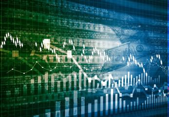 Stock market chart background .