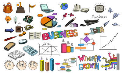 Big set of colorful creative business infographic elements.