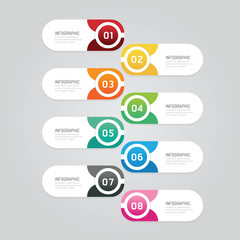 Infographics design options template banner. vector illustration