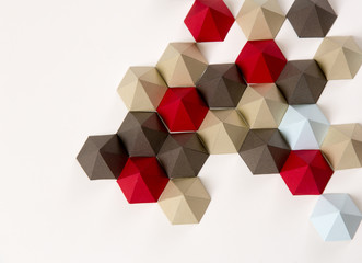 Geometric origami background