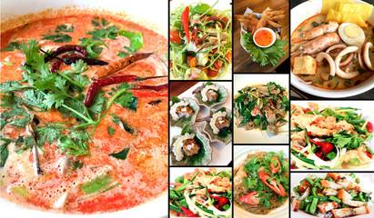 Thai food background and  illustration image