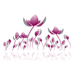 violet lotus graphic vector illustration