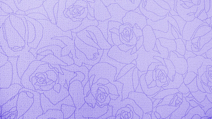 Retro Lace Floral Seamless Rose Pattern Purple Fabric Background Vintage Style