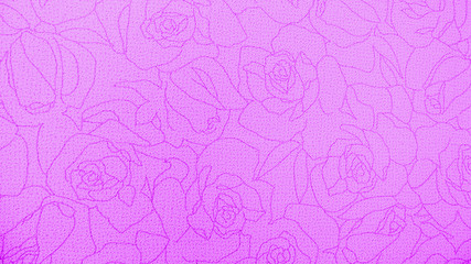 Retro Lace Floral Seamless Rose Pattern Pink Fabric Background Vintage Style