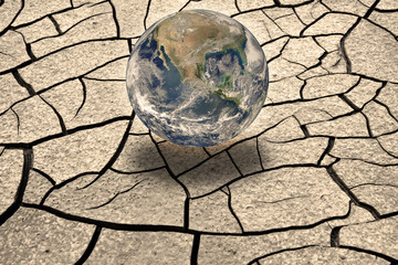 Global warming concept - Photo composition with image from NASA