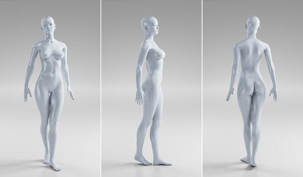 Corpo nudo perfetto di donna