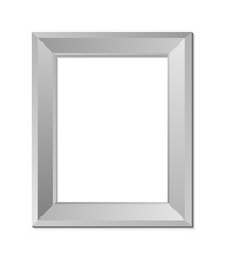 blank picture frame template isolated on wall vector eps 10