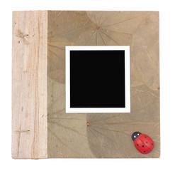 Photo frames on hardcover album