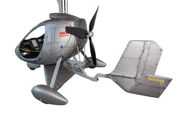 Futuristischer Hubschrauber-freigestellt