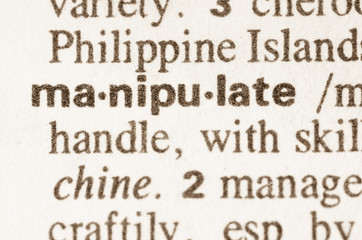 Dictionary definition of word manipulate