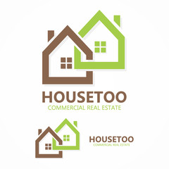 Vector real estate logo or icon
