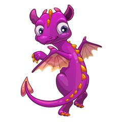 Little pink cartoon dragon