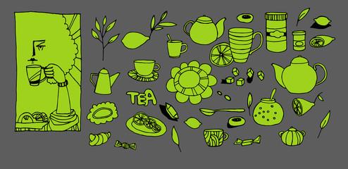 Set on a subject tea drinking