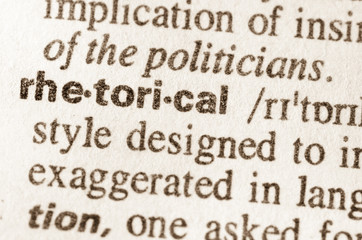 Dictionary definition of word rhetorical