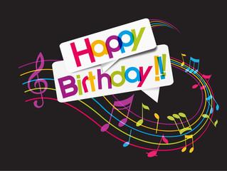 happy birthday (fond noir)