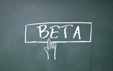 finger click beta symbol on blackboard