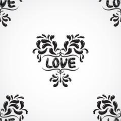Vector damask seamless pattern background. Grunge style