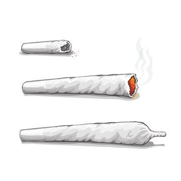 Joint or spliff. Drug consumption, marijuana and smoking drugs
