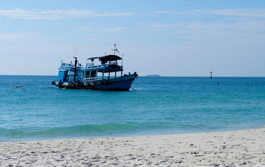 Small fishing boats near the island of Koh Samet. Thailand