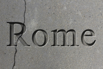 Engraved City Rome