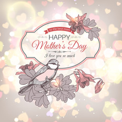 Happy Mothers Day Typographical Background.