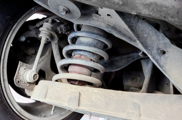 Car suspension detail