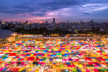 Train market secondhand market in Bangkok , Thailand