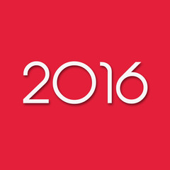 2016 Flat Red Background