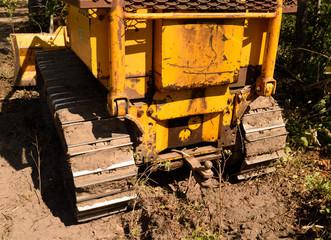Tractor Crawler Bull Dozer Rear View