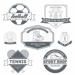 Sport retro labels