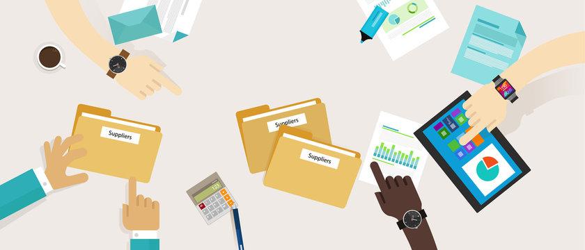 procurement purchasing supplier management process